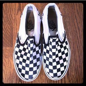 Vans size 3.5Y classic checkerboard